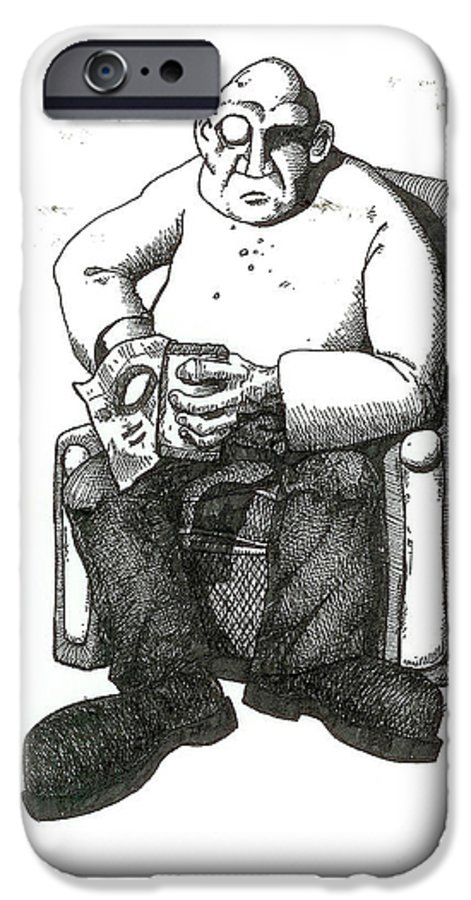 Buddha IPhone 6 Case featuring the drawing Snacks by Tobey Anderson