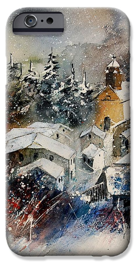 Landscape IPhone 6 Case featuring the painting Snon In Frahan by Pol Ledent