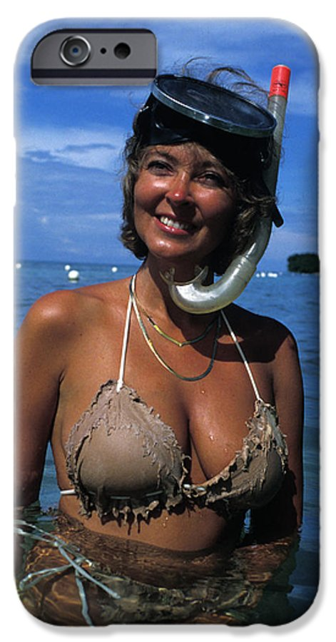 Woman IPhone 6 Case featuring the photograph Snorkler Beauty by Carl Purcell