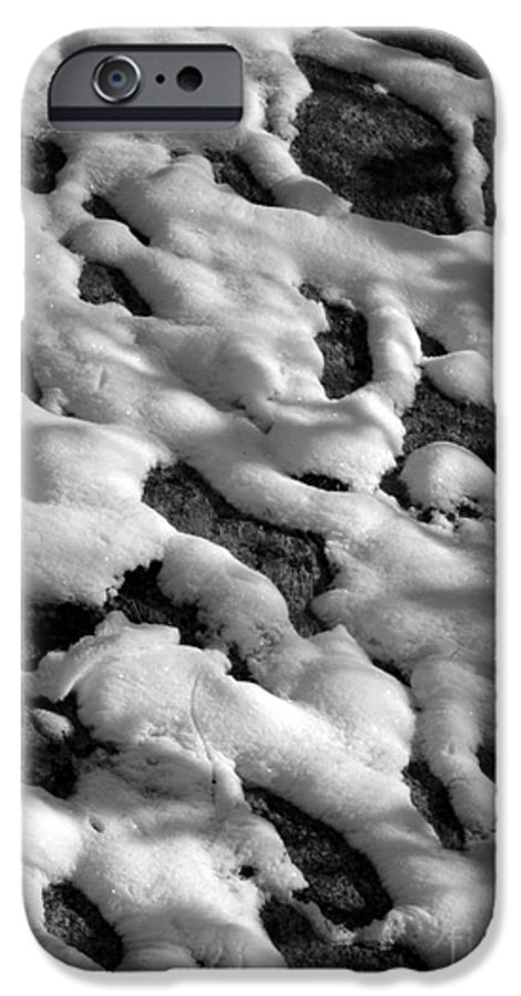 Black And White IPhone 6 Case featuring the photograph Snow People by Chad Natti