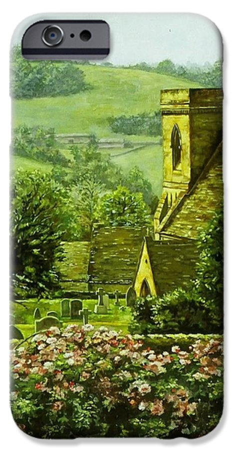 Landscape Church IPhone 6 Case featuring the painting Snowshill by Ruth Stromswold