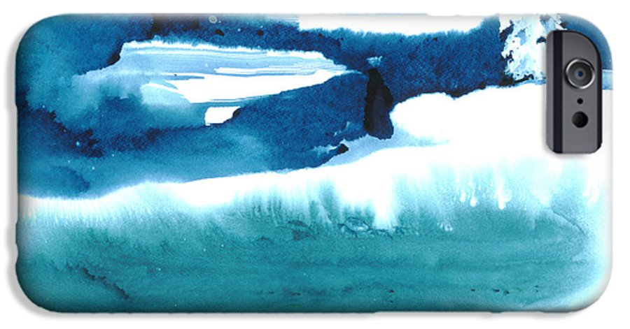 A Flock Of Snowy Egrets Standing In Snowy Country - A Watercolor Painting IPhone 6 Case featuring the painting Snowy Egrets by Mui-Joo Wee