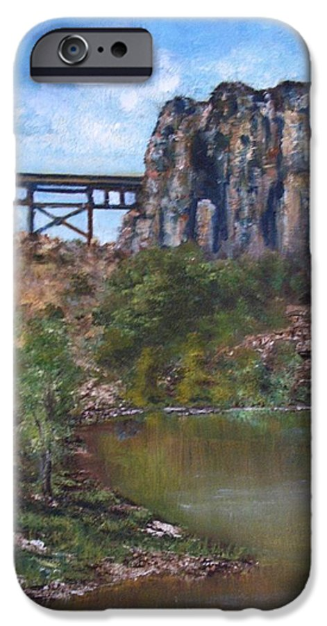 Landscape IPhone 6 Case featuring the painting S.o.b Caynon by Darla Joy Johnson