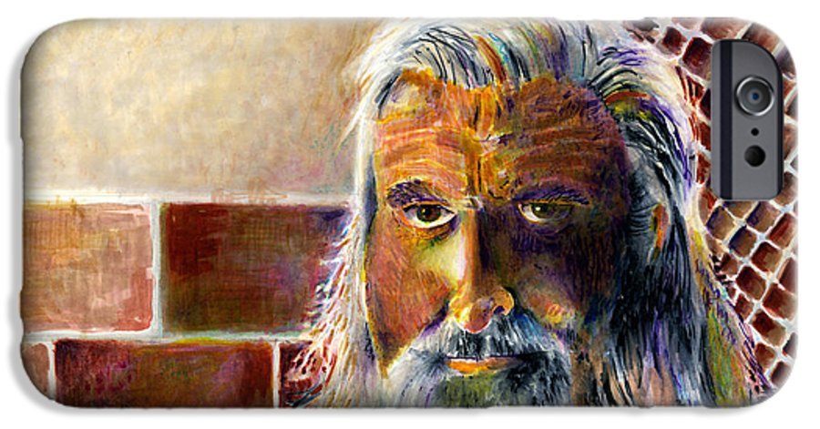 Man IPhone 6 Case featuring the painting Solitary by Arline Wagner