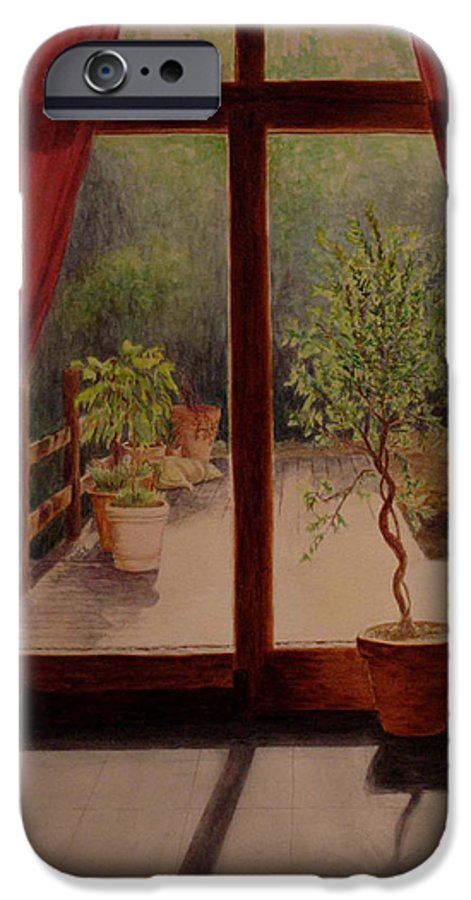 House IPhone 6 Case featuring the painting Solitude by Nik Helbig