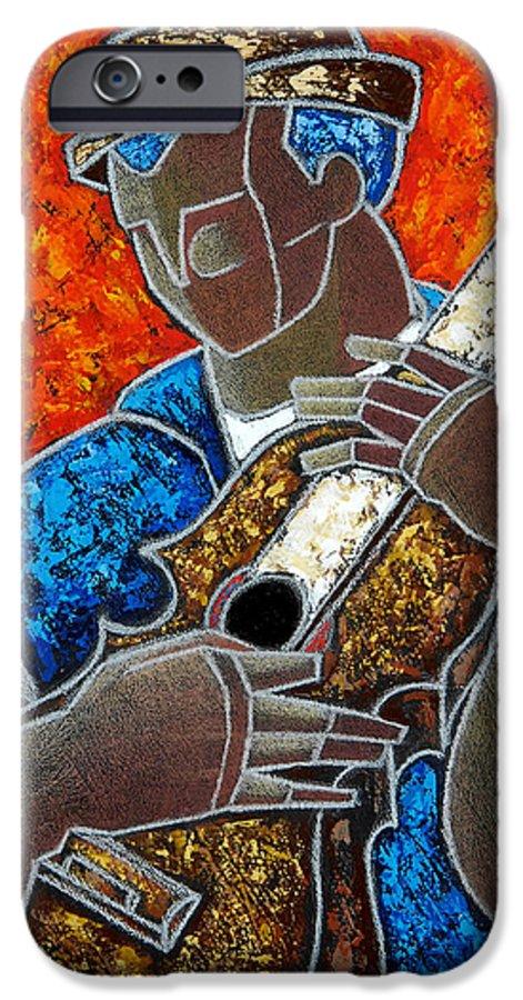 Puerto Rico IPhone 6 Case featuring the painting Solo De Cuatro by Oscar Ortiz