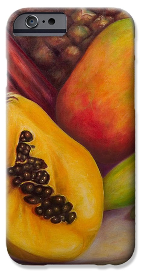 Tropical Fruit Still Life: Mangoes IPhone 6 Case featuring the painting Solo by Shannon Grissom