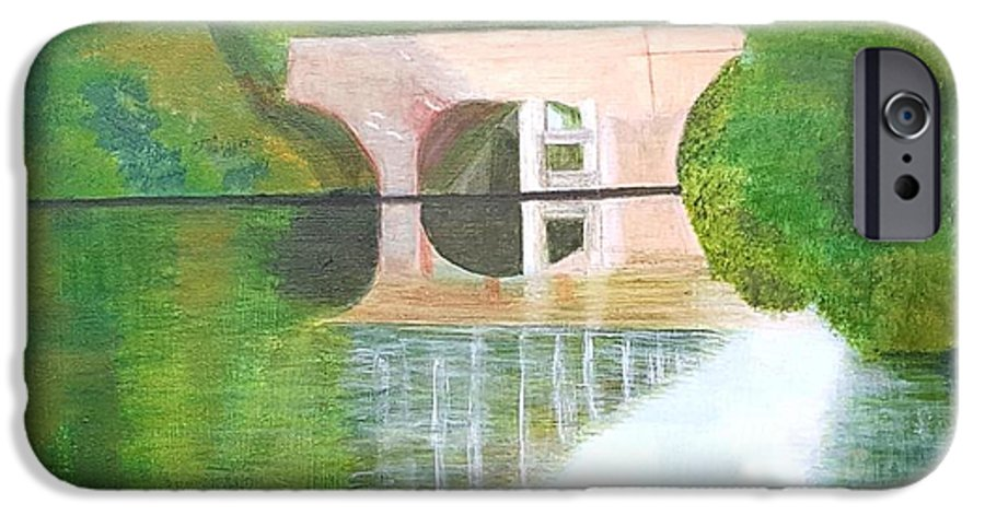 Sonning Bridge IPhone 6 Case featuring the painting Sonning Bridge In Autumn by Joanne Perkins