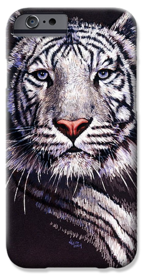 Tiger IPhone 6 Case featuring the drawing Sorcerer by Barbara Keith