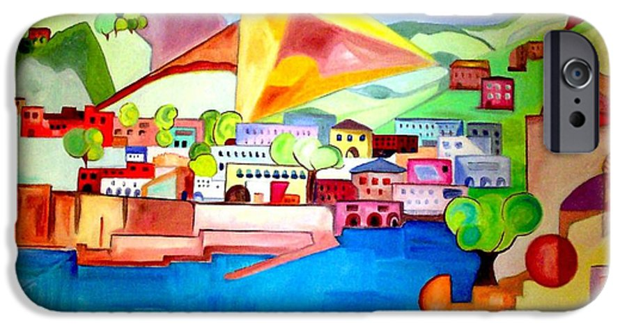 Abstract IPhone 6 Case featuring the painting Sorrento by Patricia Arroyo