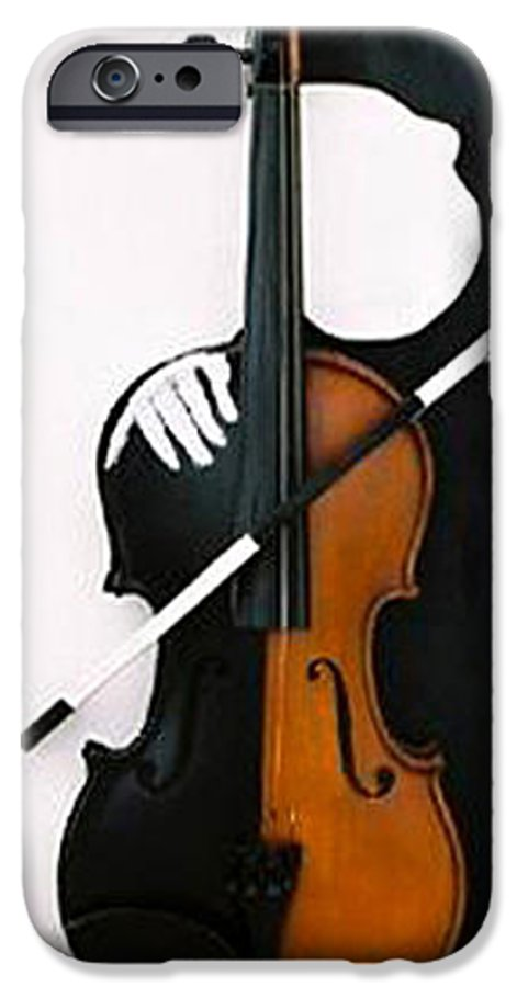 Violin IPhone 6 Case featuring the sculpture Soul Of Music by Steve Karol