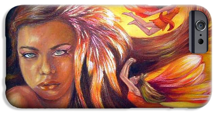IPhone 6 Case featuring the painting Soulfire by Anne Kushnick
