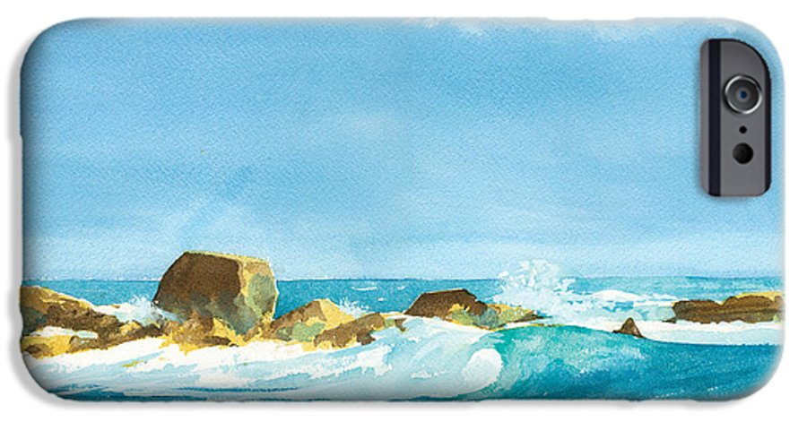 Waves IPhone 6 Case featuring the painting Sound Of Surf by Ray Cole