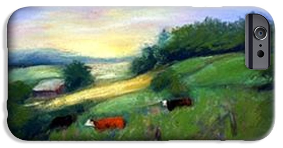 Landscape IPhone 6 Case featuring the painting Southern Ohio Farm by Gail Kirtz