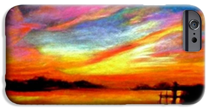 Sunset IPhone 6 Case featuring the painting Southern Sunset by Gail Kirtz