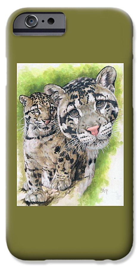 Clouded Leopard IPhone 6 Case featuring the mixed media Sovereignty by Barbara Keith