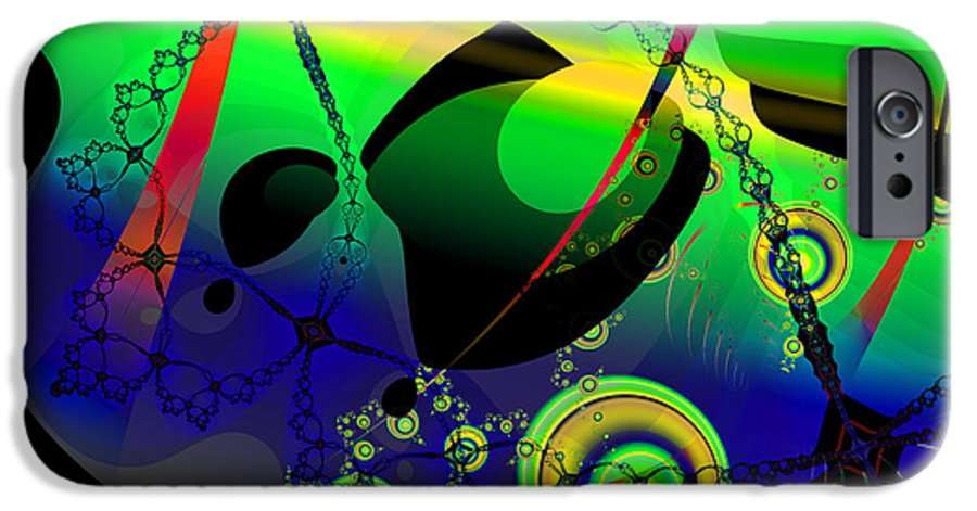 Fractal IPhone 6 Case featuring the digital art Space Carnival by Frederic Durville