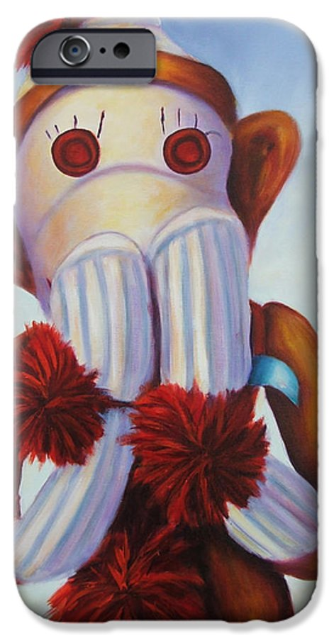 Children IPhone 6 Case featuring the painting Speak No Bad Stuff by Shannon Grissom