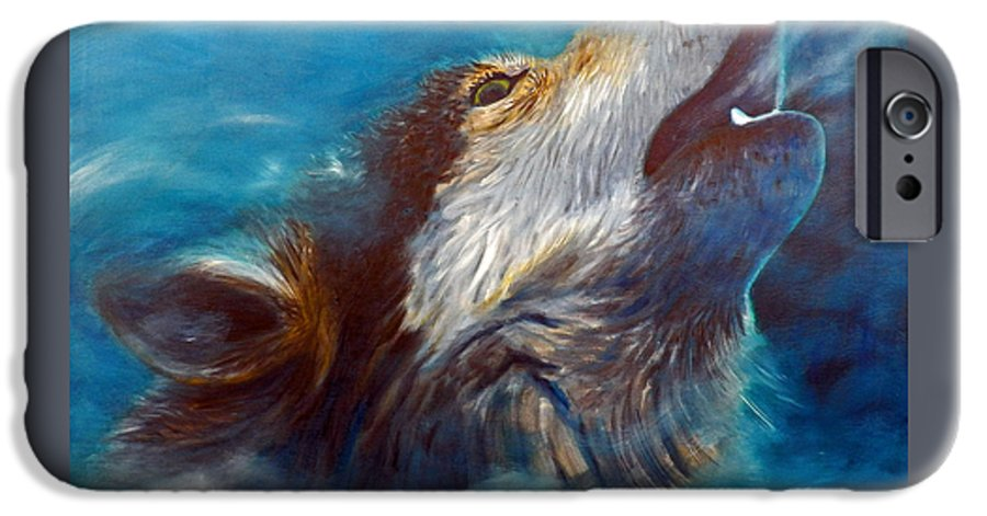 Wolf IPhone 6 Case featuring the painting Spirit Of The Wolf by Brian Commerford