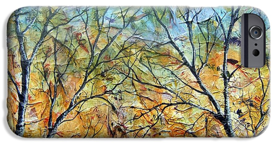 IPhone 6 Case featuring the painting Spirit Trees 7 by Tami Booher