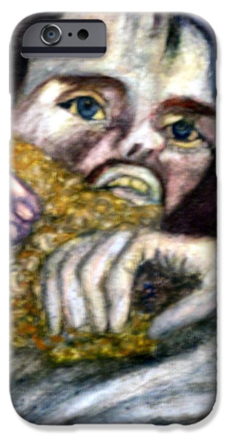 Spiritual Portrait IPhone 6 Case featuring the painting Sponge Christ Your Eyes by Stephen Mead