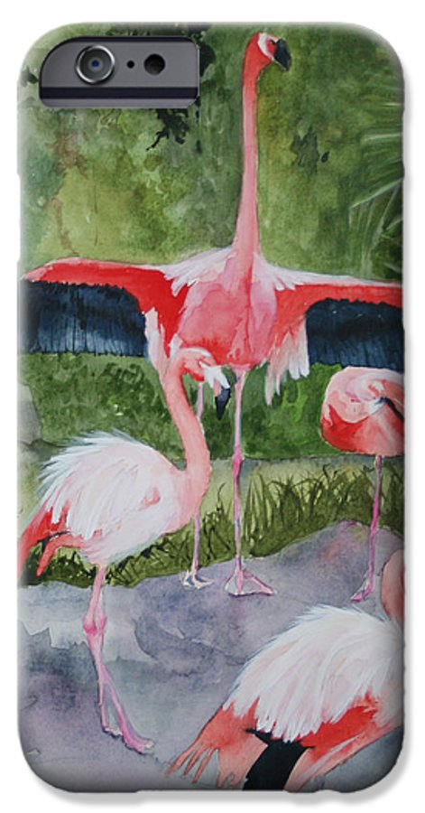 Wings IPhone 6 Case featuring the painting Spreading My Wings by Jean Blackmer
