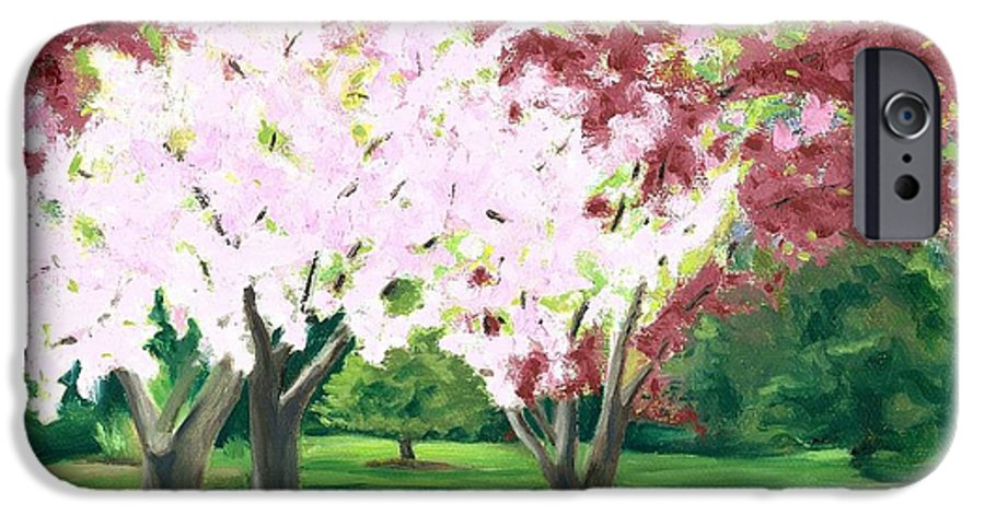 Spring IPhone 6 Case featuring the painting Spring At Osage Land Trust by Paula Emery