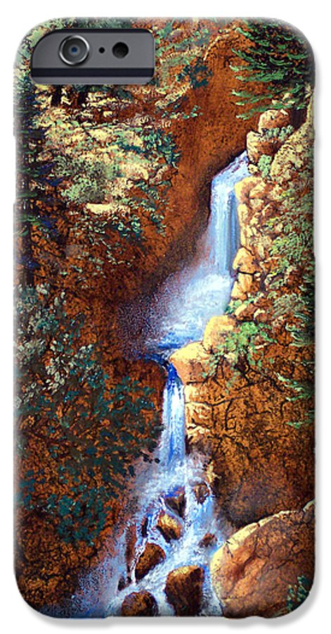 Wilderness IPhone 6 Case featuring the painting Spring Cascade by Frank Wilson