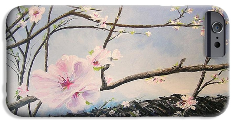 Flower IPhone 6 Case featuring the painting Spring Is In The Air by Lizzy Forrester