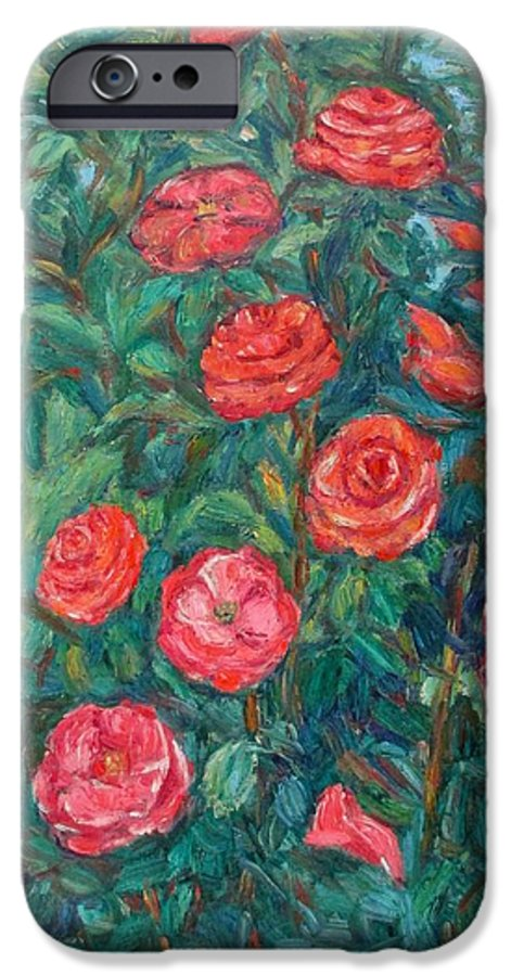 Rose IPhone 6 Case featuring the painting Spring Roses by Kendall Kessler