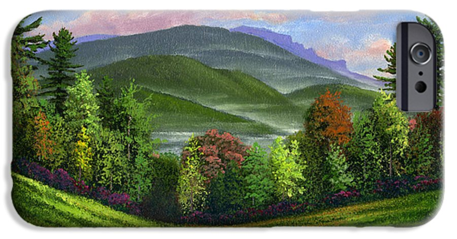 Landscape IPhone 6 Case featuring the painting Spring Time by Frank Wilson