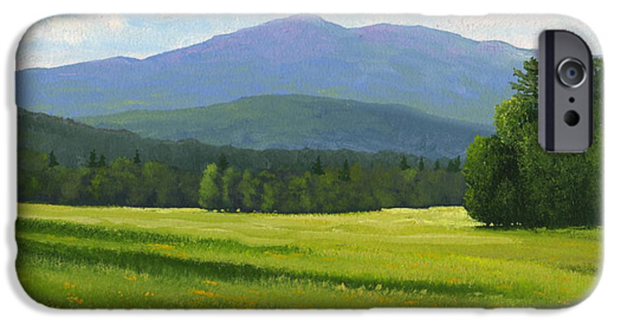 Landscape IPhone 6 Case featuring the painting Spring Vista by Frank Wilson