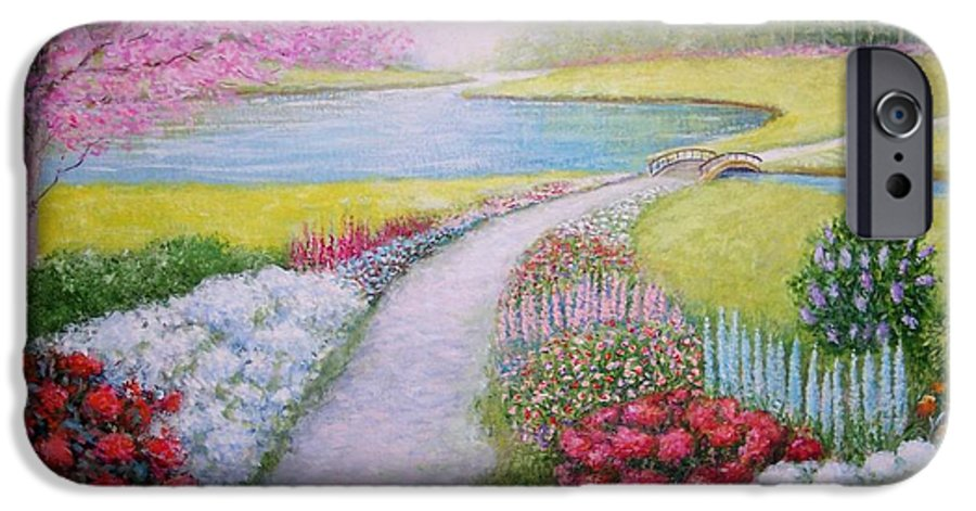 Landscape IPhone 6 Case featuring the painting Spring by William H RaVell III