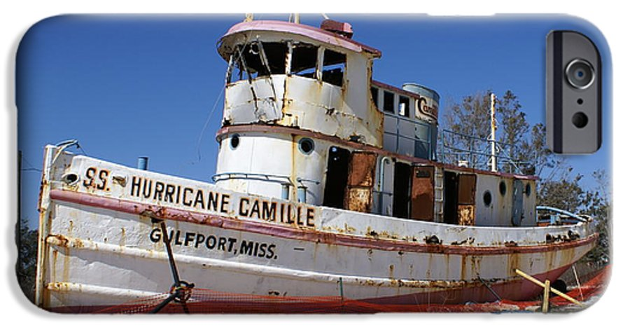 Ship IPhone 6 Case featuring the photograph S.s. Hurricane Camille by Debbie May