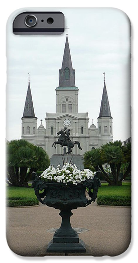 New Orleans IPhone 6 Case featuring the photograph St. Louis Cathedral New Orleans by Kathy Schumann
