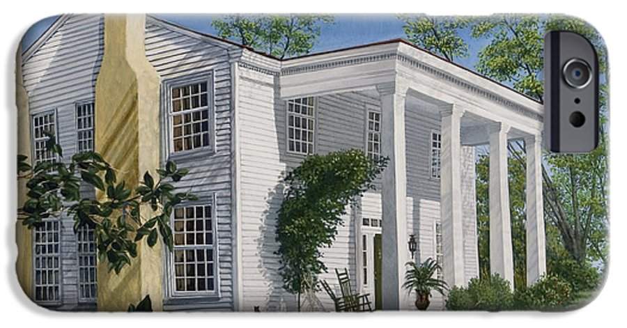 Landscape IPhone 6 Case featuring the painting Stagecoach Inn Madison Georgia by Peter Muzyka
