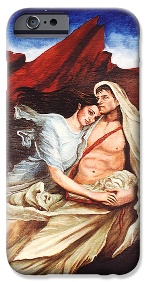 Portrait IPhone 6 Case featuring the painting Star Crossed Lovers by Teresa Carter