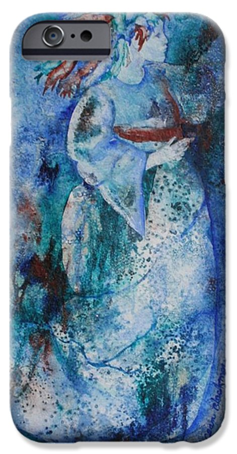 Abstract IPhone 6 Case featuring the painting Star Dancer by Jean Blackmer