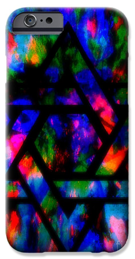 Hebrew IPhone 6 Case featuring the painting Star Of David by Wbk