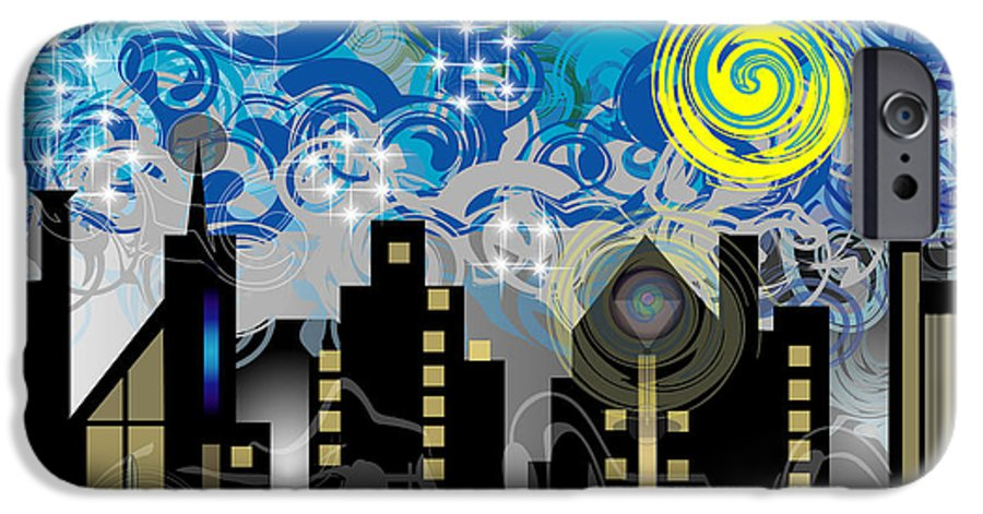 Jazz IPhone 6 Case featuring the digital art Starry Night by George Pasini