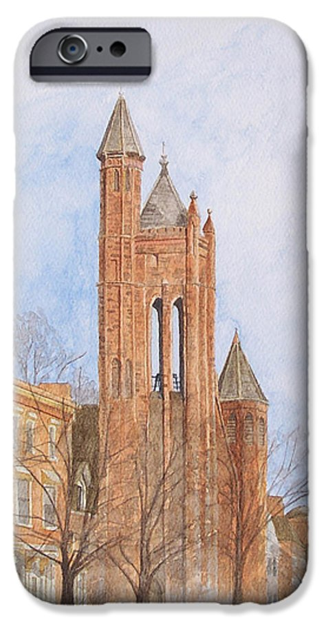 Gothic IPhone 6 Case featuring the painting State Street Church by Dominic White