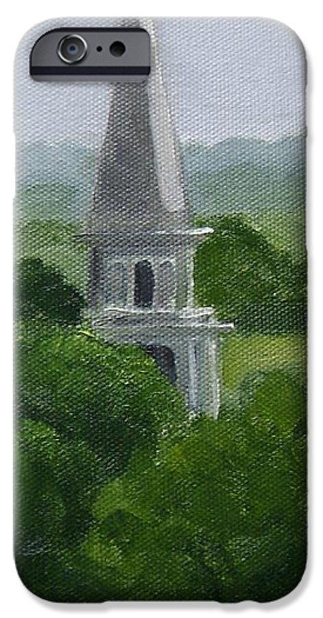 Steeple IPhone 6 Case featuring the painting Steeple by Toni Berry