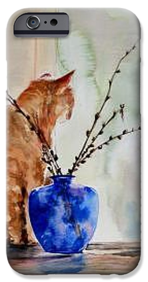 Cat IPhone 6 Case featuring the painting Still Life by Lynee Sapere