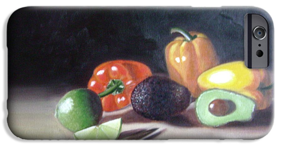 IPhone 6 Case featuring the painting Still-life by Toni Berry