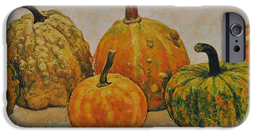Still Life IPhone 6 Case featuring the painting Still Life With Pumpkins by Iliyan Bozhanov