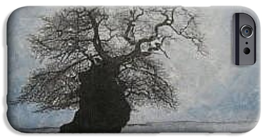 Silhouette IPhone 6 Case featuring the painting Stilton Silhouette by Leah Tomaino