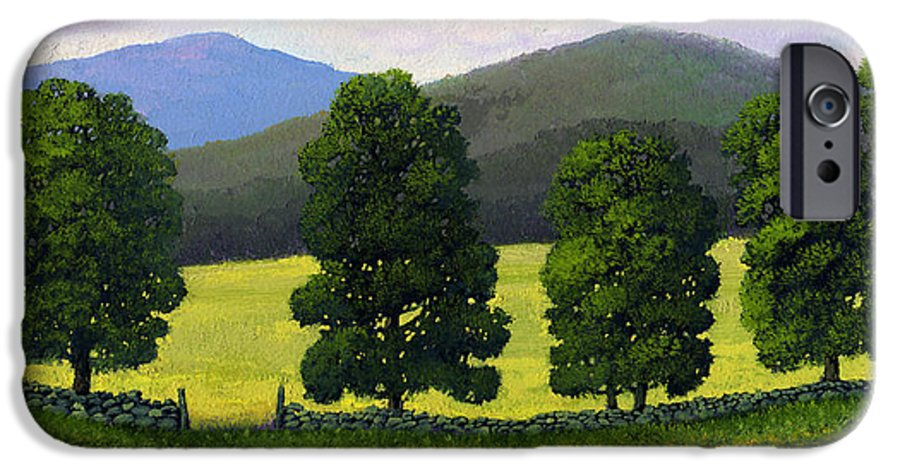 Landscape IPhone 6 Case featuring the painting Stonewall Field by Frank Wilson