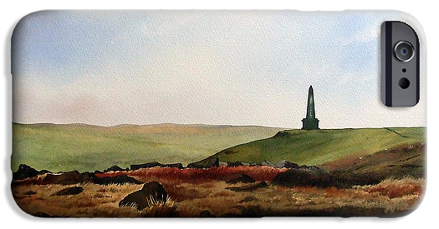 Landscape IPhone 6 Case featuring the painting Stoodley Pike by Paul Dene Marlor