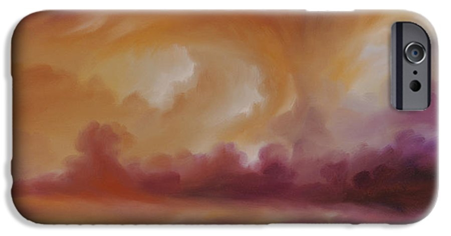 Tempest IPhone 6 Case featuring the painting Storm Clouds 2 by James Christopher Hill