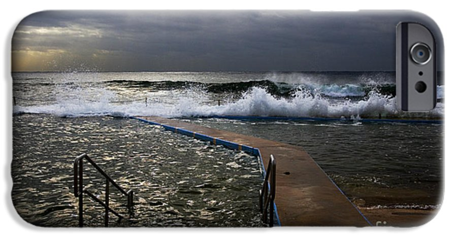 Storm Clouds Collaroy Beach Australia IPhone 6 Case featuring the photograph Stormy Morning At Collaroy by Avalon Fine Art Photography